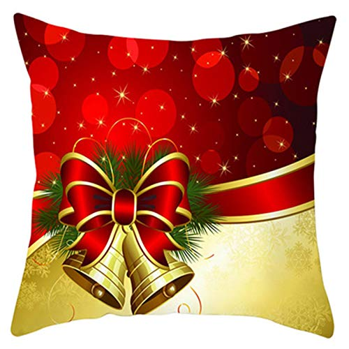 Torey Fundas de cojín cuadradas de 35 x 45 cm, brillantes elementos navideños (relleno no incluido).