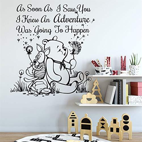 Winnie l'ourson décalque Winnie l'ourson bébé décoration de chambre d'enfant citation personnage de dessin animé personnage de babys