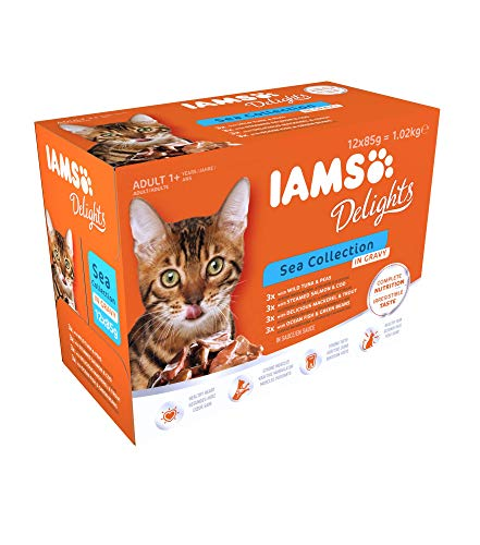 Iams delight multipack alimento umido per gatti adulti sea Collection 12 x85 gr