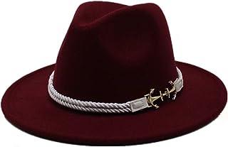 Outing Hat الشتاء في الهواء الطلق fascinator قبعة عارضة حجم 56-5 8CM. الرجال النساء الصوف فيدورا قبعة الخريف trilby قبعة و...