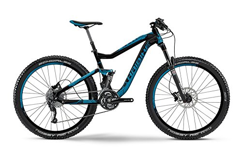 MTB Fully Haibike Q.AM Life 7.10 27,5\' 30-G Damen , Rahmenhöhen:44;Farben:schwarz/blau matt
