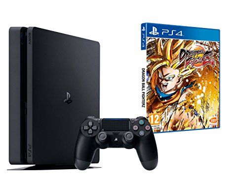PS4 Slim 1To Noir - Playstation 4 + Dragon Ball FighterZ