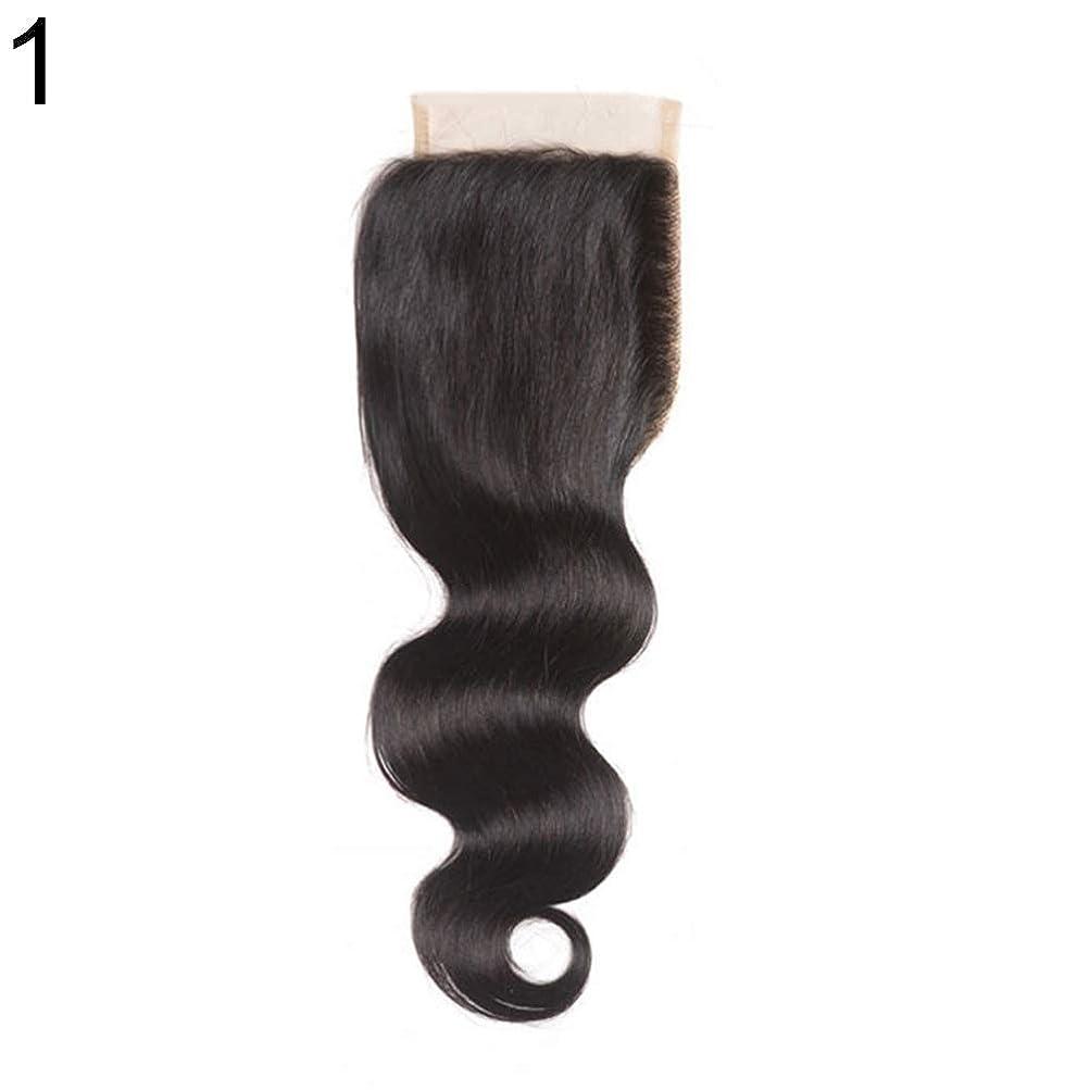 高価なわずかに呼吸slQinjiansav女性ウィッグ修理ツールブラジルのミドル/フリー/3部人間の髪のレース閉鎖ウィッグ黒ヘアピース