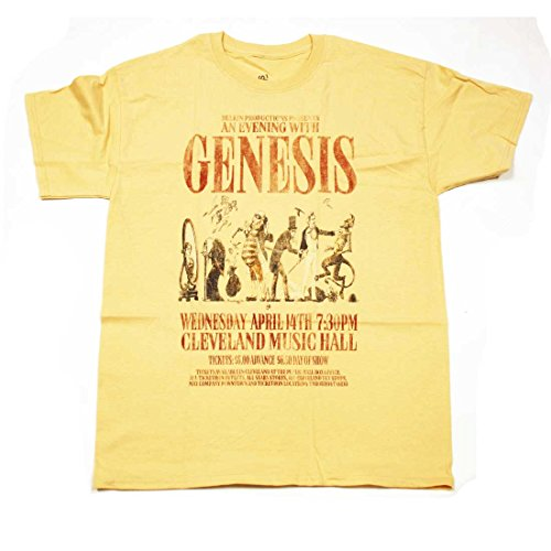 Genesis T Shirt - Trick of The Tail Tour Replica Cleveland Music Hall 100% Official-s