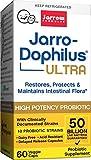 Ultra Jarro-Dophilus, 50 Billion Probiotic Organisms Per Capsule, for Intestinal/Digestive Health, 60 Veggie Caps (Cool Ship, Pack of 3)