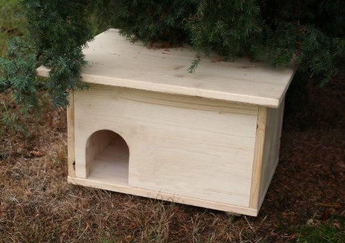 cura-canin Igelhütte Igelhaus Igelhotel mit Labyrintheingang und Rattenklappe