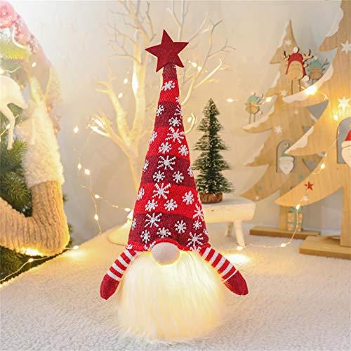 YHLVE Weihnachtsgnom Lichter, handgemachte Plüsch skandinavische schwedische Tomte, Santa Figur Elf Plüsch Puppe Weihnachtsfeier Home Tischdekoration Weihnachtsdekoration
