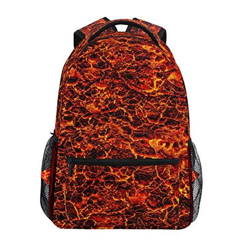 DXG1 Lava Red Magma Backpack Women Men Teen Girl Boy School Bag Purse Bookbag Casual Daypack Supplies