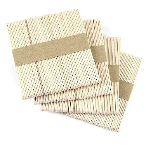 CMD 200pc Wooden Popsicle Craft Sticks Ice Cream Sticks Natural Wood 4.5 inch Length Great for DIY Craft Creative Designs