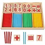 Camelize Montessori Mathe Spielzeug,mathematisches Spielzeug Holz,Mathe Spielzeug Rechenstäbchen,Zahlenlernspiel, Pädagogisches Mathe-Spielzeug für Kinder 3...