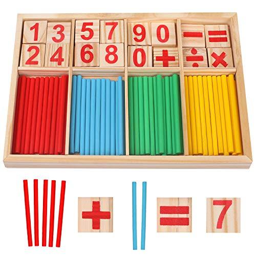 Camelize Montessori Mathe Spielzeug,mathematisches Spielzeug Holz,Mathe...