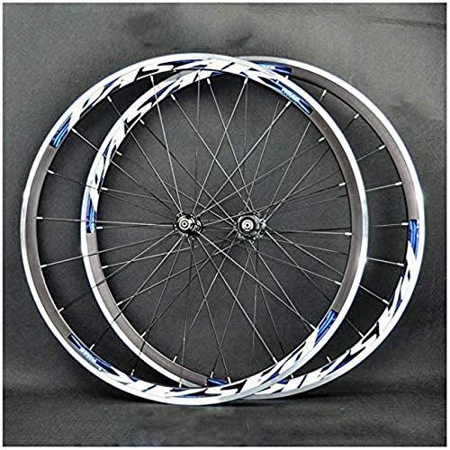 Juego de ruedas para bicicleta de carretera Rueda delantera para bicicleta 700C Rueda trasera Rueda de aleación de doble pared de 30 mm Juego de ruedas para bicicleta Ruedas BMX de liberación rápida