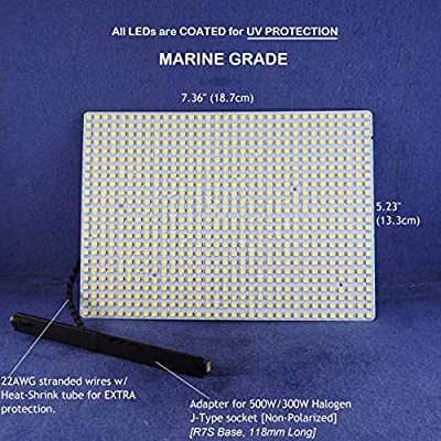 LED PANEL FOR FLOOD LIGHT FXITURES - 120Vac 7000lumens 33Watts