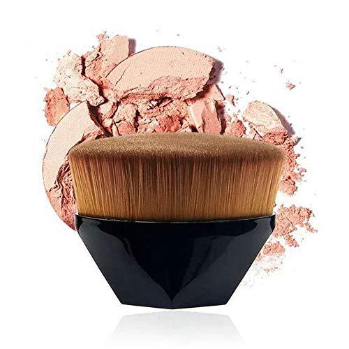 Six Corners Flawless Wand Foundation Brush, Brosse de fondation sans couture haute densité, pour BB Cream Makeup Brushes Loose Powder (noir)
