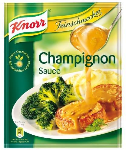 Knorr Feinschmecker Champignon Sauce, 22er Pack (22 x 250 ml Beutel)