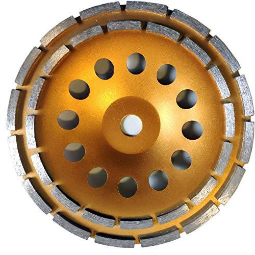 Diamantschleifteller Schleifscheiben Ø 115-230 mm 22.23mm Loch Schleiftopf mit Doppel Zahn (Doppel Zahn DM 230 mm)
