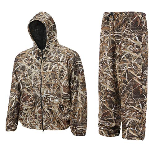Auscamotek Camouflage Breathable Hunting Jacket with Hood - Wetland XXL