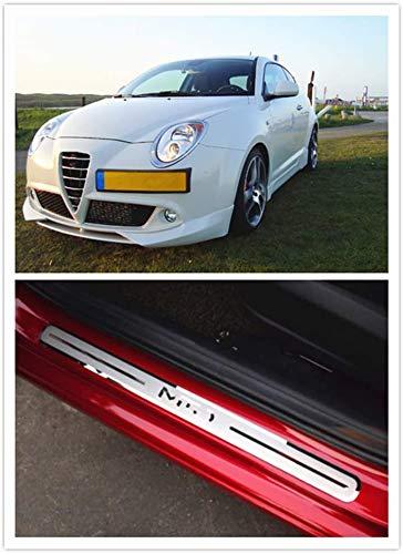Per Alfa Romeo Mito Accessori In Acciaio Cromato Porta Sill Protector Door Sill Guard Scuff Plate Trim 4 pz YGAODWQ