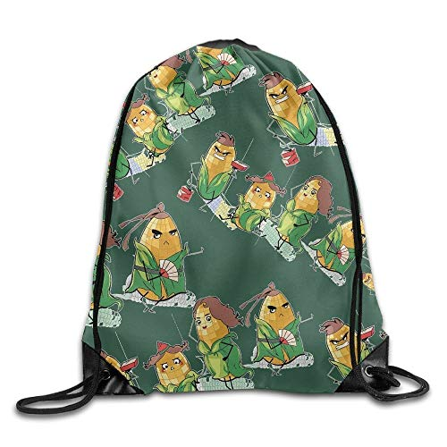 uykjuykj Tunnelzug Rucksäcke, Maize Cereals Unisex Sack Cinch Backpack Sport Drawstring Bags. Lightweight Unique 17x14 IN