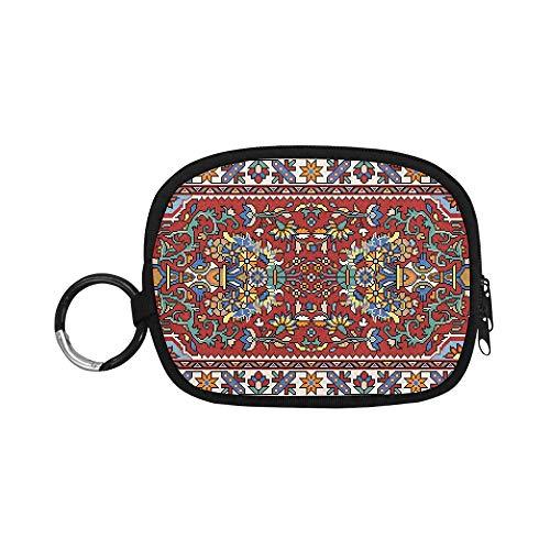 Monedero Bolsa de Cambio Monedero Colorido Mosaico Oriental Alfombra Tradicional Folk Mini...