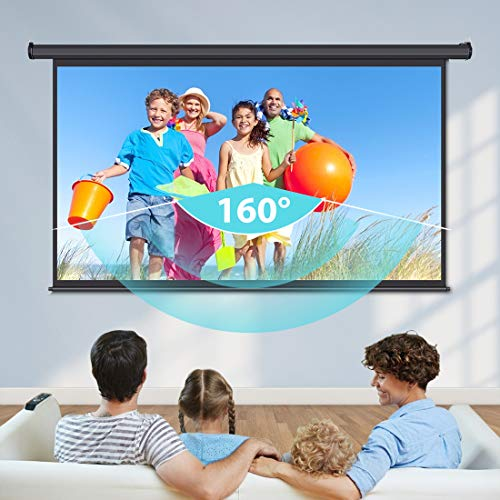 VIVOHOME 100 Inch Electric Motorized Projector Screen with Remote, 16:9 8K 4K Ultra HD Widescreen for Movie Home Theater Cinema Office Video Game
