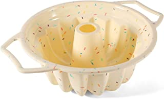 ZHEYANG Moule à gâteau en forme de spirale en silicone - Pour petits gâteaux ronds et creux
