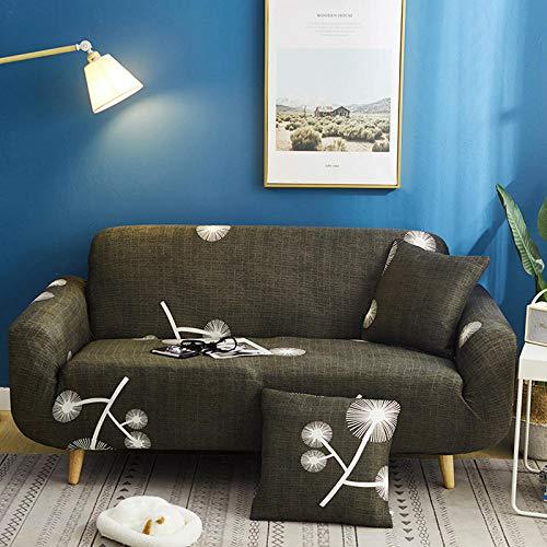 WPHRL 2 plazas Funda elástica para sofá Estampado Verde Vintage Tejido Jacquard...