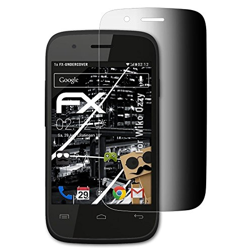 atFolix Blickschutzfilter kompatibel mit Wiko Ozzy Blickschutzfolie, 4-Wege Sichtschutz FX Schutzfolie