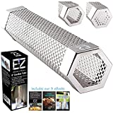 BBQFAM 6' EZ Smoker Tube, The Hexagonal Pellet Smoke Tube on Instagram and FB- Included are our 3 popular E-books (1, 6')