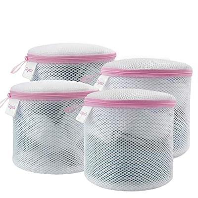 GOGOODA Bra Wash Bag,4PCS Mesh Laundry Bags for Bras/Underwears/Socks
