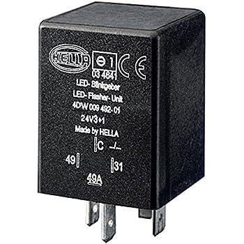 HELLA 4DW 009 492-111 Centrale clignotante avec support 12V