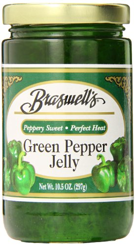 Braswell Pepper Jelly, Green, 10.5 Ounce (Pack of 6)