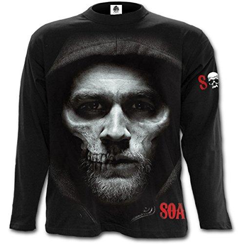 Spiral - Jax Skull - Sons Of Anarchy Black (Maglia Manica Lunga Unisex Tg. S)