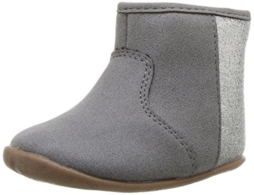 Carter's Every Step Girls' Stage 2 Stand, Amylene-SG Fashion Boot, Grey,3.5 M US (9-12 Months)