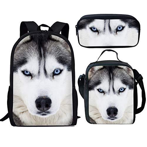 Mochila para niños con diseño de Perro, Mochila para la Escuela, Mochila de Viaje Informal con Bolsillo Lateral, Colorida