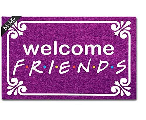 MsMr - Zerbino per ingresso con scritta 'Welcome Friends', per interni e casa, 60 x 40 cm
