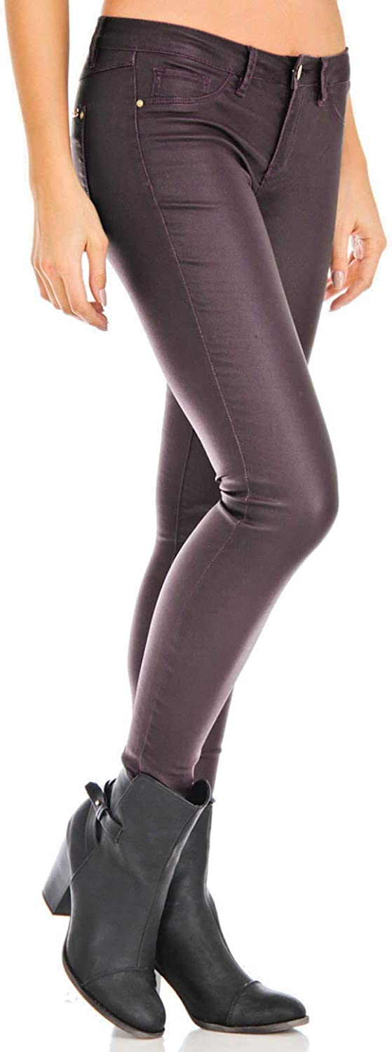Bianco Coated Skinny Stretchy Jeans for Women