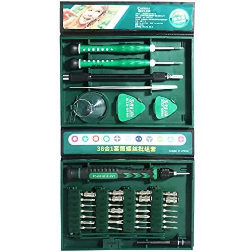 LAOA - Kit cacciavite di precisione magnetico 38 in 1, kit di strumenti a mano con cacciaviti precisi, adatto per computer portatili, Qrdinatori, occhiali, attrezzi