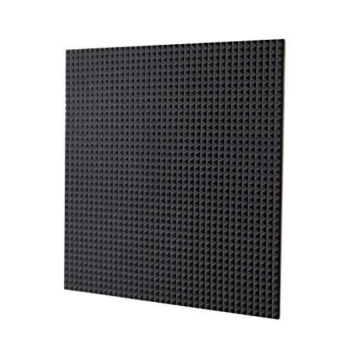 keyhelm s.r.l. Pannello Fonoassorbente Piramidale 100x100x3cm D25 Grigio Antracite - Pacco Da 10 (10mq)