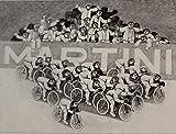 Alberico Morena, I ciclisti, 1976, Xylographie signée et numérotée