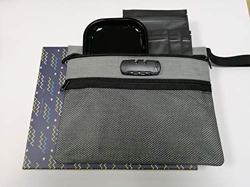 Smell Proof Bag with Lock - Dog Tested Bags - Best Odor Proof Pouch Zipper on Top Smell Proof Case for Herbs Coffee Tea Oils 5 Sealed Baggies - Smell Proof Container