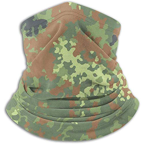 Randy-Shop Fleece Neck Warmer - Flecktarn Camo Neck Gaiter Tube der Bundeswehr, Bandana, Mask