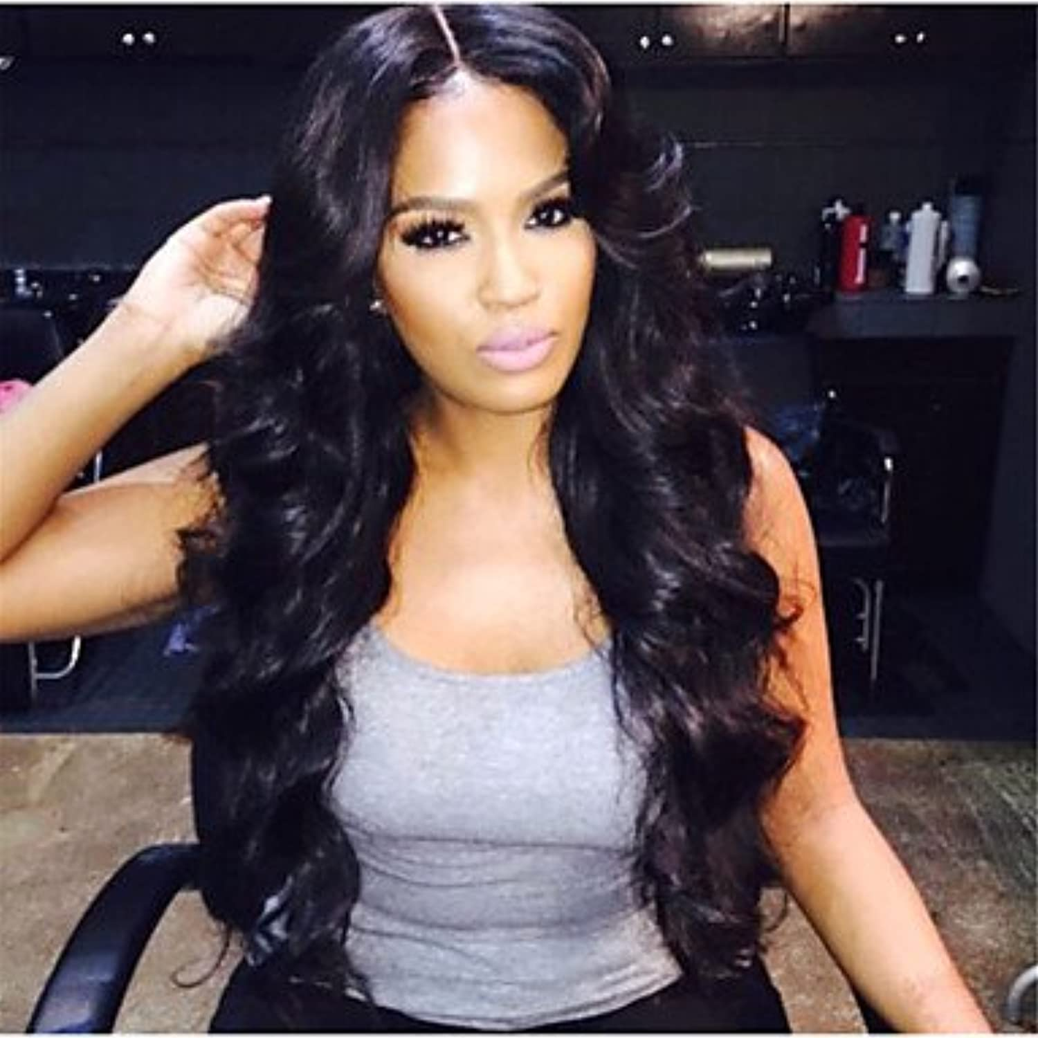 YAMEIJIA Front Lace Wigs Full Lace Wig Body Wave Human Hair Wigs for Black Women Baby Hair, 130%