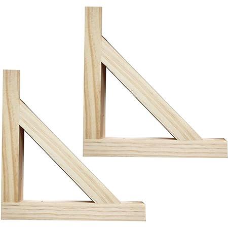 SUPPORT escuadras para estanteria soporte forma de triángulo en forma de L, soporte de esquina de ángulo recto de madera maciza resistente para ...