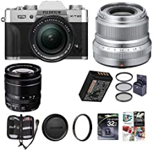 $1748 » Fujifilm X-T30 Mirrorless Camera with XF 18-55mm f/2.8-4 R LM OIS Lens and XF 23mm (35mm) F/2R WR Lens, Silver - Bundle with 32GB SDHC Card, 58mm Filter Kit, 43mm UV Filter, Software Pack and More