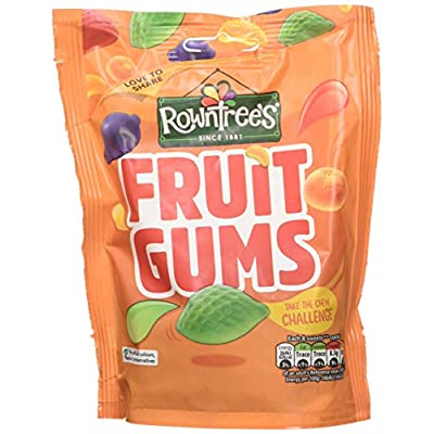rowntrees fruit gums sweets sharing pouch, 150 g - pack of 10 Rowntrees Fruit Gums Sweets Sharing Pouch, 150 g – Pack of 10 51lX 0an09L