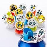 Canper Dosenaufsatz/Dosendeckel Emoji, 12er Packung, Plastik, Mehrfarbig