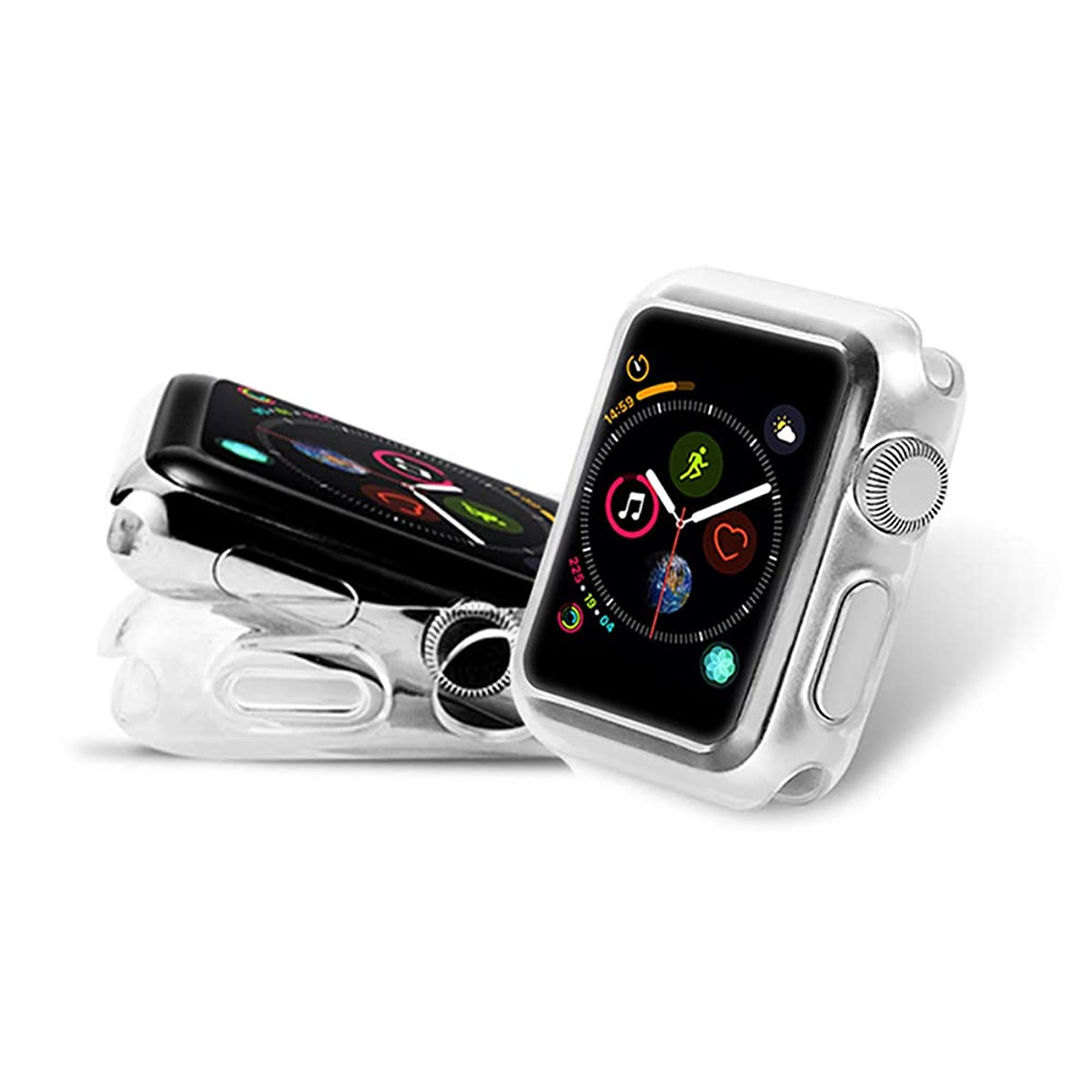 PULEN Apple?Watch?Series?4?Case 44mm 2018,Soft TPU Case Cover Scratch Resiaance Shook Proof Anti-Fall Ultra Clear for New Apple?Watch?Series?4 2018 44mm Version (2 Packs)