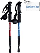 Meanhoo Telescopic Hiking Trekking Sticks Poles Straight Handle 4 Sections with Shock-resistant Locking System with Tips, Collapsible Walking Trekking Pole for Hiking Climbing Tent