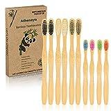 Athenaya Cepillo de Dientes de Bambú, Cepillo de...